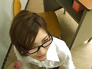 Petite hottie Natsuki Minami in raunchy blowjob scene