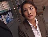 Horny teacher Murakami Risa gets her pleasure buds teased