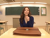 Shiraki Yuuko fucked and made to swallow in class