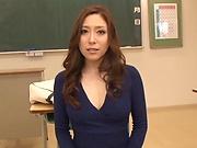 Female Asian teacher sucks and fucks in perfect POV scenes