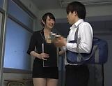 Sweet Japanese teacher Nikaidou Yuri goes wild on fat dick
