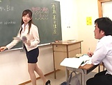 Hot teacher is eagerly fucking a student picture 13