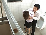 Sachiko got some fingering in the toilet picture 11