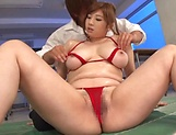 Spicy hottie Nakamura Chie  gets her shaved twat jizzed