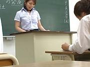 Mature teacher likes masturbation and sex