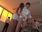 Tokyo teacher Maijima Akari enjoys public sex and eats jizz