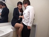 Horny woman got fucked in the toilet picture 5