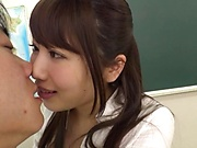 Cock loving Japanese teacher Kirishima Sakura gives an awesome ride