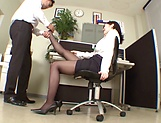 Very sexy Japanese teacher Shinoda Yuu shows off feet gets screwed