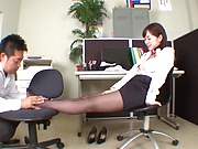Sexy ass office lady pleases boss with a great fuck