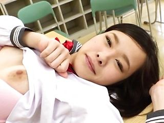 Cute Japanese schoolgirl ends up fucking in POV