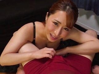 Topnotch Japanese beauty Kururugi Mikan blows a big cock in POV