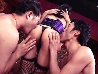 Kinky Japanese AV model Kawai Asuna enjoys mmmf sex
