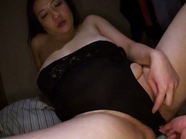 Big-tittied Asian milf with a chubby body gets toyed and ...