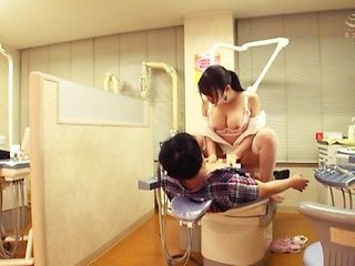 Superb Japanese nurse in white stockings Kiritani Nao goes for a cock