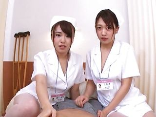 Japanese nurses like to have thresomes