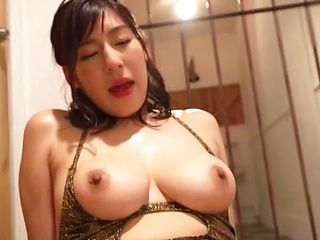 Hottie with big tits Otomi Rina gets massive jizz in interracial sex