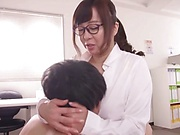Kaori is a new, busty office lady