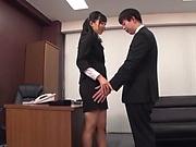 Kurokawa Sumire is a sexy office lady