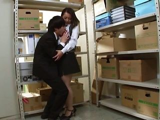 Office lady gets humped at work and made to swallow