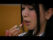 Glorious office lady Sonoda Mion teases a cock in pov