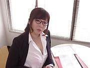 Naughty Kaori is displaying her big tits