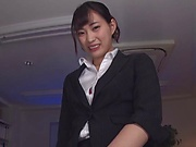 Akari Mitani fabulous toy riding in her lunch break