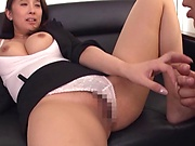 Horny office lady wanted sex right away