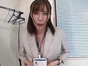 Perfect POV shag with the horny secretary