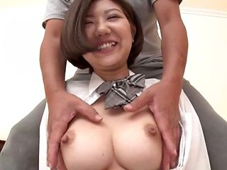 Voluptuous Asian schoolgirl gets pussy toyed and drilled