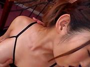 Curvy AV model Hara Kanon gets oiled up and banged hardcore