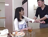Japanese amateur babe Hifumi Rin gets her dripping wet pussy banged picture 11