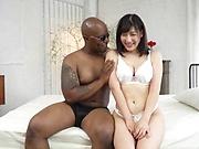 Hot Japanese babe had interracial sex