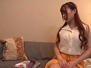 Amazing Japanese AV model Morimoto Tsugumi gets her shaved pussy teased