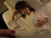 Fascinating Asian amateur chick Arimura Nozomi fucked in the bedroom