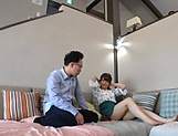 Asian AV model with a shaved pussy Arimura Nozomi in a wild gang