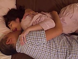 Kudo Manami gets her shaved pussy licked picture 14