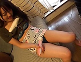 Japanese teen babe gets her nice kitty toyed and banged picture 11