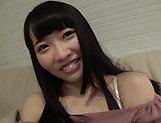 Tokyo teen with a shaved pussy learns to suck and to ride a cock picture 14