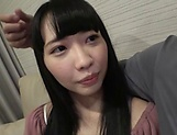 Tokyo teen with a shaved pussy learns to suck and to ride a cock