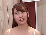 Lovely looking Japanese chick takes off her lingerie to get pounded